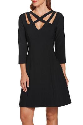 beyond travel™ strappy neck dress