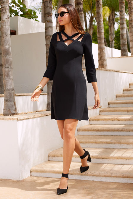 Beyond travel™ strappy neck dress image