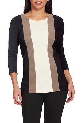 beyond travel™ vertical colorblock top