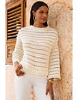 Bell Sleeve Open Knit Sweater Photo