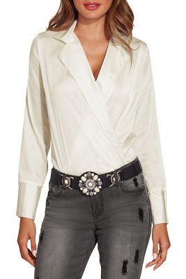 Collared charm bodysuit
