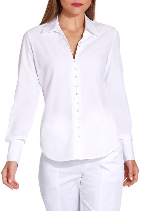 Covered button shirt image