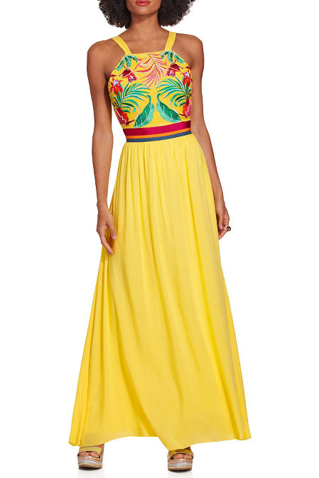 Embroidered cover up maxi image