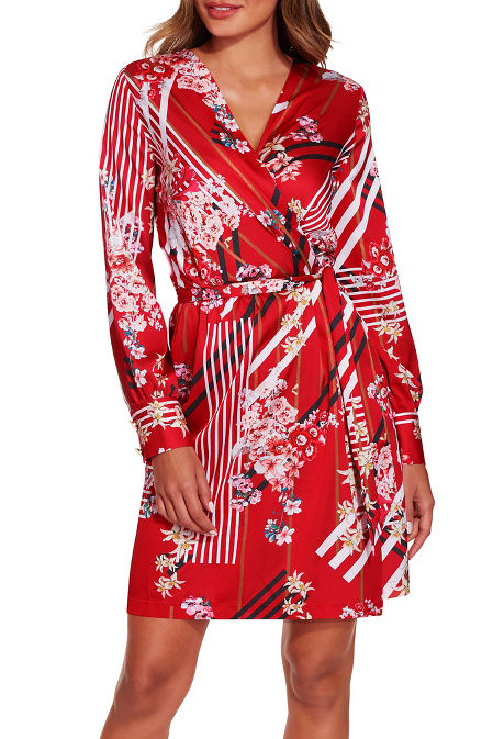 Floral stripe dress image