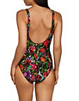 Hardware Plunge Floral One Piece Swimsuit Photo