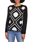 Medallion Colorblock Crochet Sweater Photo