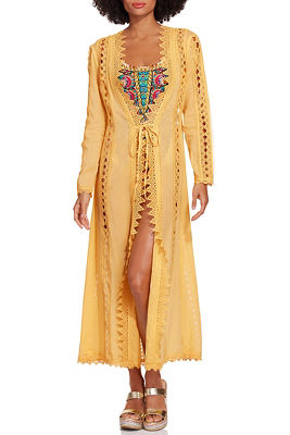 Open lace duster