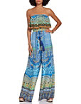Strapless Tile Print Jumpsuit Photo