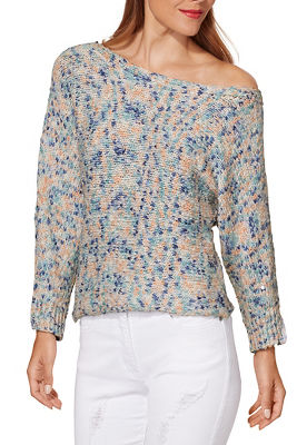 Pastel marled slouchy sweater