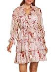 Ruffle Floral Print Dress Photo