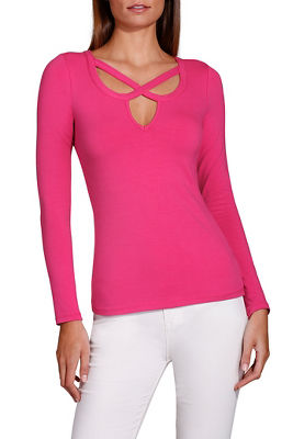 So Sexy™ cross front v neck top