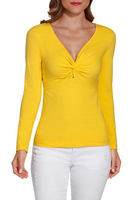 So Sexy™ knot front v neck top