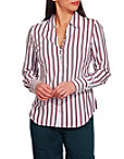 Stripe Covered Button Shirt Photo