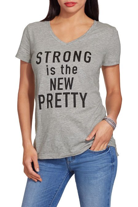 Strong is the new pretty tee image