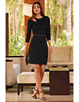 Studded Cutout Sheath Dress Photo
