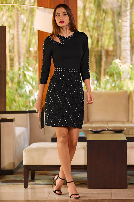 Studded cutout sheath dress image