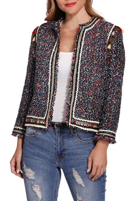 Tassel tweed jacket image