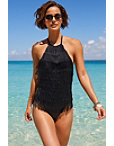Fringe One Piece Swimsuit Photo
