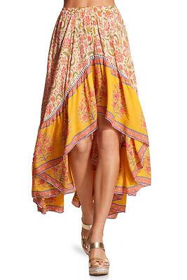 hi lo floral maxi skirt
