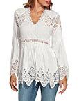 Lace Long Sleeve Tunic Top Photo