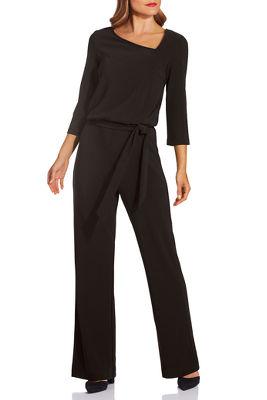 Beyond travel™ asymmetric tie jumpsuit