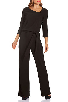 Beyond travel™ asymmetric tie jumpsuit