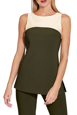 Display product reviews for Beyond travel™ colorblock tank top