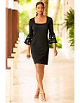 Beyond Travel™ Square Neck Grommet Dress Photo