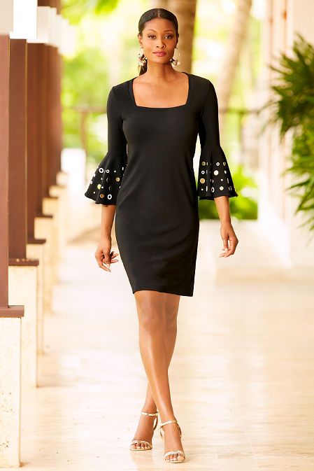 Beyond travel™ square neck grommet dress image