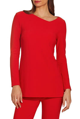 Beyond travel™ asymmetric cutout long sleeve top