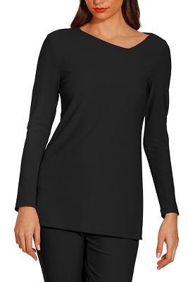 Beyond travel™ asymmetric cutout long sleeve top