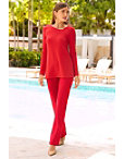 Beyond Travel™ Asymmetric Cutout Long Sleeve Top Photo