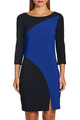 Beyond travel™ colorblock curve dress