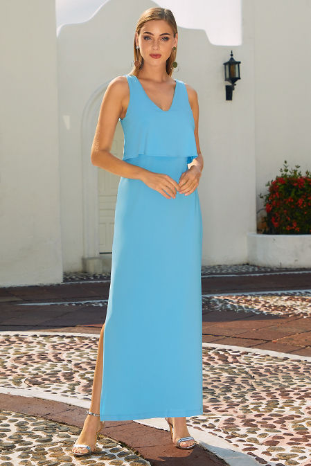 Beyond travel™ popover maxi dress image