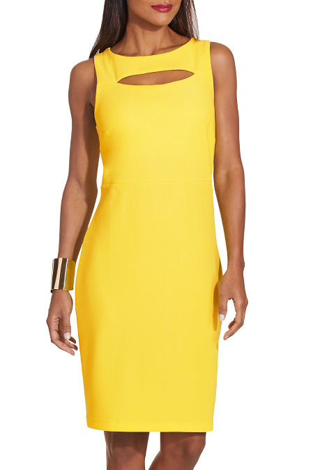 Beyond travel™ sleeveless slit dress image