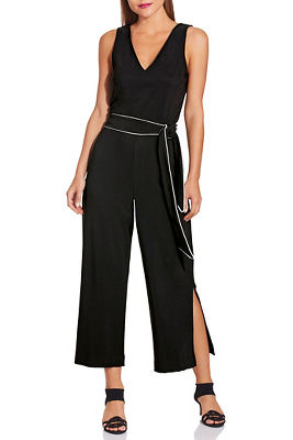 Beyond travel™ tie cropped jumpsuit