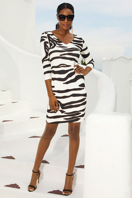 Beyond travel™ zebra dress image