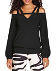 Beyond Travel™ Keyhole Strappy Cold Shoulder Top Photo