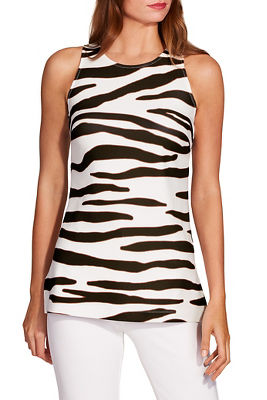 Beyond travel™ high neck zebra top