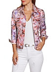 Metallic Floral Denim Jacket Photo