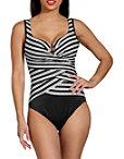 Geometric Stripe One Piece Swimsuit Photo