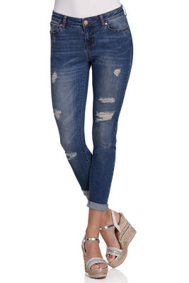 skinny distressed ankle jean
