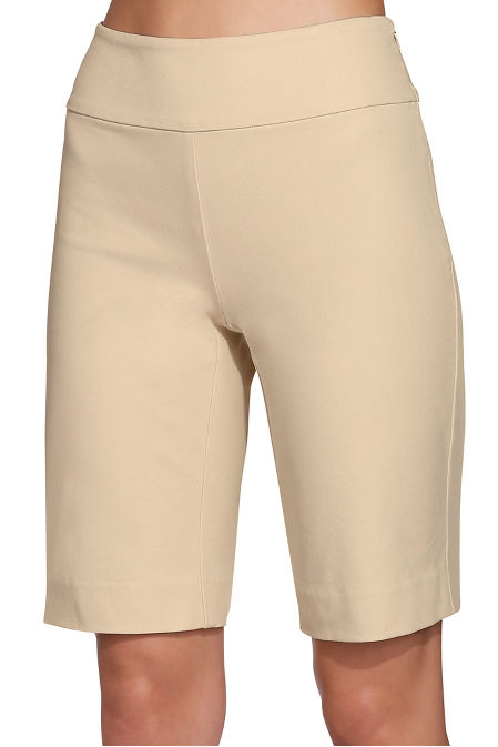 Everyday side zip twill Bermuda short image
