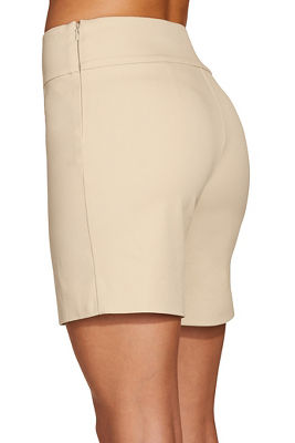 Everyday side zip twill seven inch short