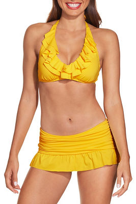 Ruffle skirted bikini