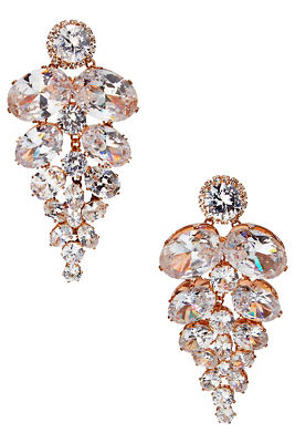 Iridescent crystal earrings
