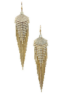 Crystal fringe drop earrings