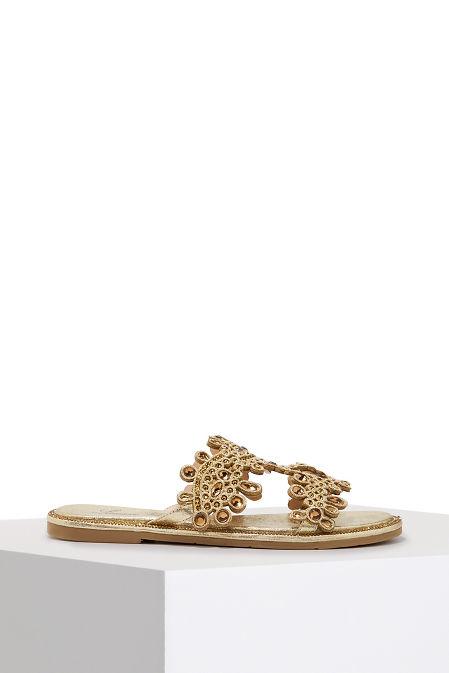 Crystal slide sandal image