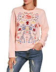Embroidered Floral Sweatshirt Photo