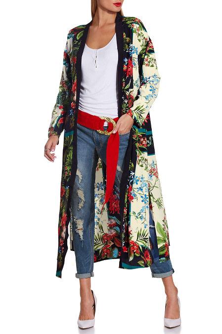 Floral printed kimono image